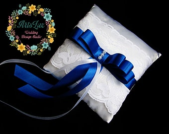 Wedding pillow for rings - Bearer Ring Pillow - Lace Wedding Ring Pillow - Satin Wedding Ring Pillow - Pillow ring - Wedding ceremony