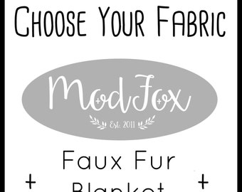 Custom Fur Crib Blanket - Choose Your Fabric - Crib Blanket In Any Fabric - Minky Blanket - Faux Fur Blanket - Baby Blanket - Bedding