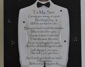 Son Wedding Gift | Engagement Gift from Mother to Son | Son Wedding Gift From Mother | Son Wedding Sign | Son Wedding Shelf Sitter