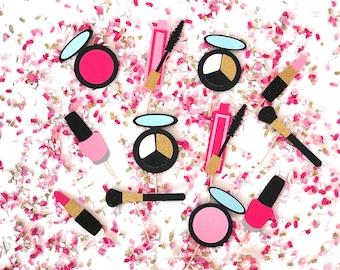 Makeup Cupcake Toppers | Makeup Cupcake Picks | Lipstick Cupcake Toppers | Makeup Party | Makeup Theme Party | Cosmetics Cupcake Toppers