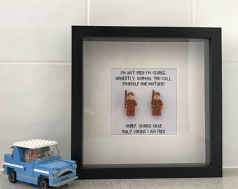 Harry Potter Minifig Shadowbox - Fred and George Weasley