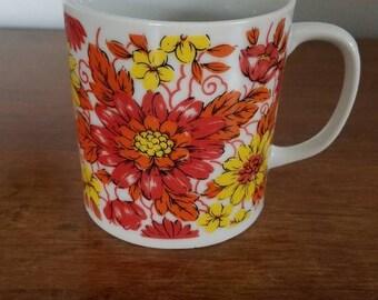 Retro Mug, Vintage Japanese Mug