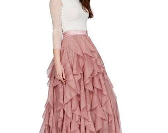 Wedding Skirt, Ball Skirt, Bridal Maxi Skirt, Satin Skirt, Formal Skirt, Blush Wedding Skirt, High Waisted Skirt, Maxi Ball Skirt,Boho Skirt