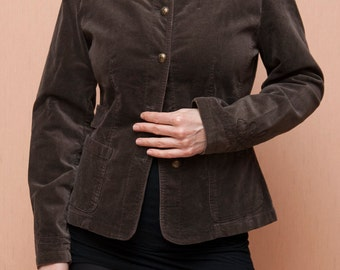 Sale Women's jackets, brown colored, Medium size, embroider pattern on sleeves and on the sides of jacket. Original cut