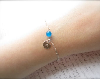 Turquoise Bracelet, Agate Bracelet, Customized Jewelry, Swedish Jewelry Design, Made in Sweden, Bridal Party Gift, Scandinavian Jewelry
