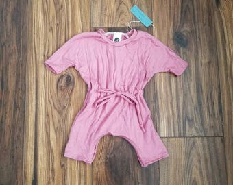 Sale! Dusty rose romper, dusty rose baby romper, dusty rose toddler romper, baby summer clothes, toddler summer clothes, drawstring romper,