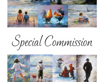 COMMISSION your own CUSTOM painting by Vickie Wade  A list of sizes and prices to choose from below