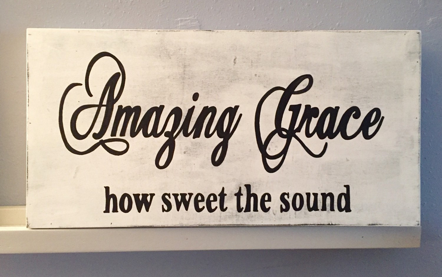 Amazing Grace How Sweet the Sound Sign 24 x 12 Amazing Grace Sign Amazing Grace Wall Art Amazing Grace Wood Sign & Amazing Grace How Sweet the Sound Sign 24 x 12 Amazing Grace Sign ...