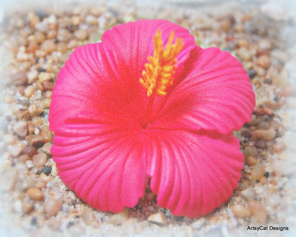 New 3 Moana Hot Pink Magenta Hibiscus Hair Clip Hawaiian Hair Flower Tropical Flower Boho Beach Wedding Luau Wmini Plumeria Hairclip