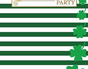 Custom Saint Patrick's Celebration Backdrop Banner Printed Background Photo Booth Prop (Any Text color)