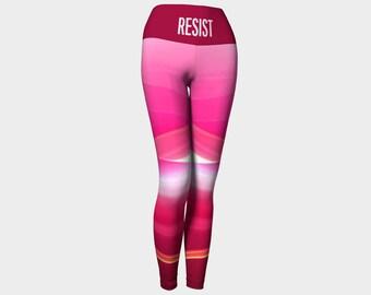 Resist leggings, Womens march leggings, Resist #resist, yoga leggings, funky leggings