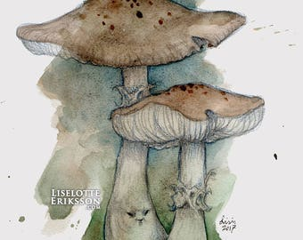 Mushroom Folk - Limited Edition art print