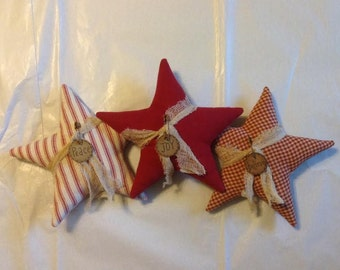 Christmas Tree Star Ornament - Christmas Bowl Fillers -  Christmas Ornaments - Primitive Ornaments - Rustic Christmas - Farmhouse Style