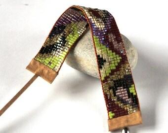 Bead Loom Bracelet, Bohemian Bracelet, Boho Chic Bracelet, Ethnic Bracelet, Native America Jewelry, Multicolor Bracelet, Gift For Her