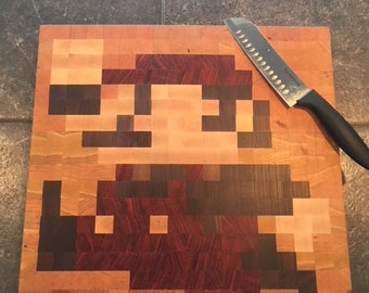 8-Bit Mario Cutting Board