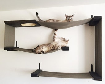 Fabric Cat Maze - Cat Hammock Shelves - Free US Shipping*