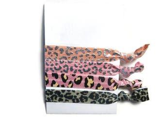 Animal Print Hair Ties, Cheetah Print Hair Ties, Leopard Hair Ties, Girls Hair Ties, Ponytail Holders, Yoga Hair Ties
