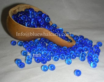 Shipping from USA - 6 mm gourd beads, gourd crafting no hole beads, undrilled acrylic beads, gourd lamp, gourd hobby-Evileye Blue -500 beads
