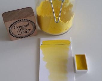 Handmade watercolor Chalk yellow