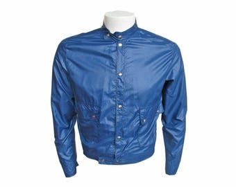 Men's Vintage 1970s Jacket Nylon Windbreaker Cafe Racer Style Scott Lester London