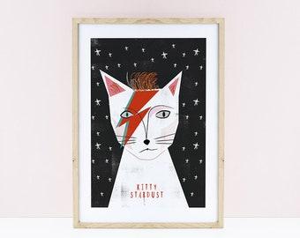 Kitty Stardust Print