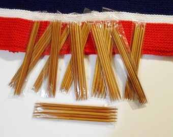 55 Carbonized Bamboo Knitting Needles 11 Sizes 5 Each Size Double Pointed Knitting Needles DPN 13cm - 5in Long Sizes 2.0-5.0mm USA Sizes 0-8
