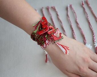 Multiple Wraparound Christmas Friendship Bracelets
