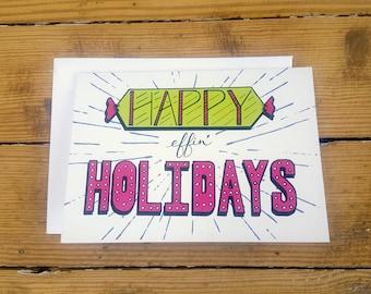 Happy Effin' Holidays Card
