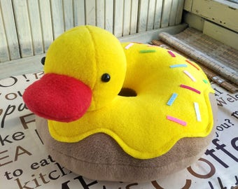 Mother's day gift -Duck Pillow- Rubber Duck Pillow Plush-Yellow pillow-Free Shipping