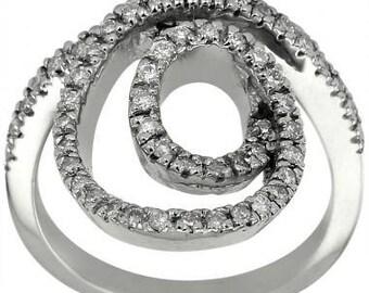 Diamond Ring Spinner Ring Infinity Ring Gold Diamond Dinner Ring 14k Gold