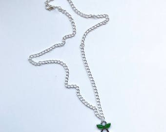 Silver Cherry Necklace