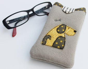 Dog lovers Glasses case, spectacle case, doggy glasses cover.