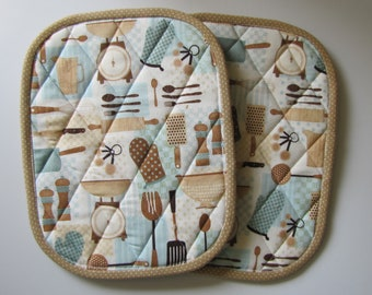 Kitchen gadgets potholders - set of 2