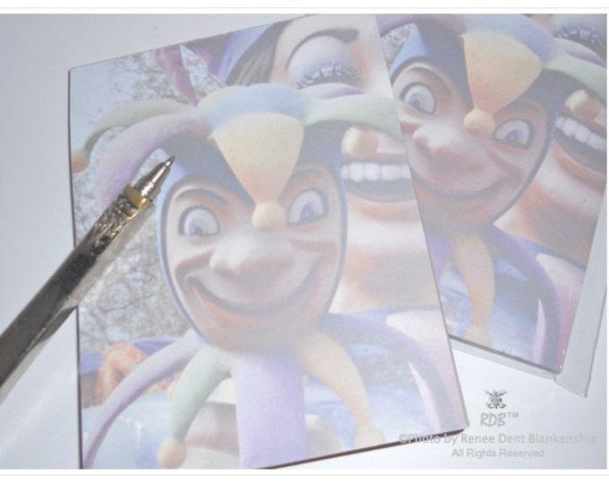 Jester Notepad - Mardi Gras Stationery