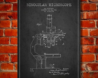 1931 Microscope Canvas Art Print, Wall Art, Home Decor, Gift Idea