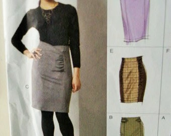 UNCUT Vogue Options Close Fitted Tapered Skirt V8672 8672 Sewing Pattern Size 14 16 18 20