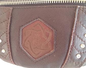 Fanny pack, leather pouch, waist bag, bum bag, hip bag, festival bag, handcrafted leather, belt bag, trendy bag, leather, geometry sacred