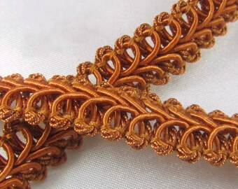 Cinnamon Copper Rust 1/2 inch Raised Heavy Gimp Decorator or Upholstery Trim