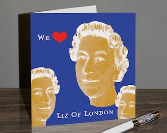 London Queen Liz Greeting Card - England - LOL01