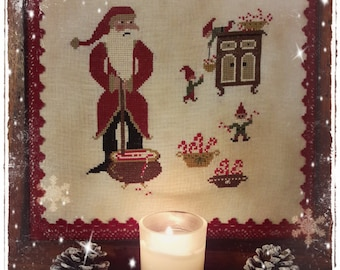 Santa's Peppermint - PDF Cross Stitch Pattern