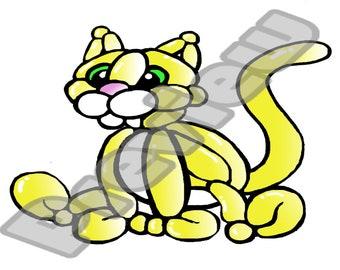 Fancy Kitty Balloon Animal