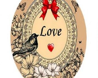 "beautiful ""love bird"", 18x25mm"
