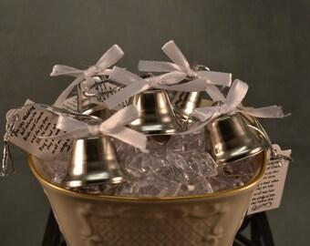 Wedding Bells 96 pieces, Kissing Bells, Wedding Favor, Bells, Silver Bells, Wedding Ceremony, Church Safe, Environmentally Safe