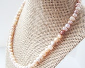 Freshwater Pearl Single Strand Necklace - Blush  |  The Something Blue Bridal Collection