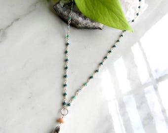 Silver Quartz Shard Necklace | Leaf & Luna