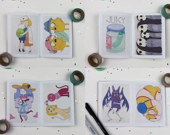 Inktober 2017 Art Zine. Adventure Time Original Illustrations Sketchbook Finn The Human Jake The Dog Marceline Prince Bubblegum Drawings