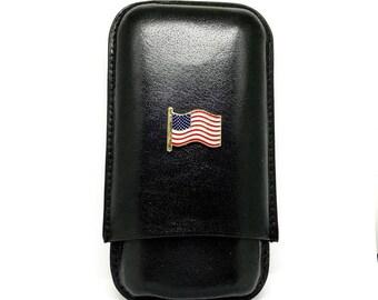 US Flag Cigar Case – Color