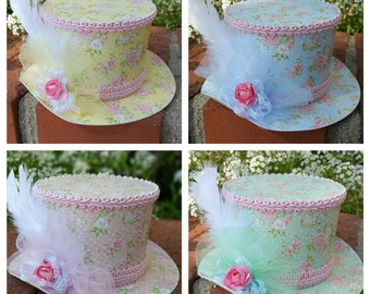 Alice in Wonderland Party Hat, Shabby Chic Hat.  Party favor or Party Hat