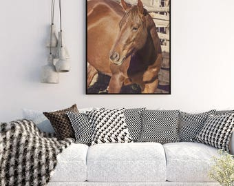 Chestnut Horse Photograph, Sorrel Horse Art, Physical Horse Print