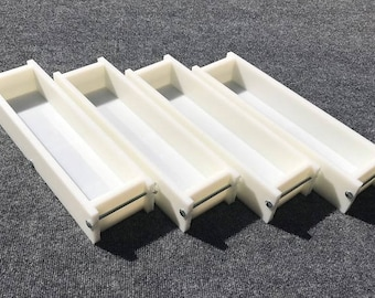 Lot of 4 HDPE Soap Loaf Making Mold 4 - 5 lb per mold CP Mp HP Oven Safe